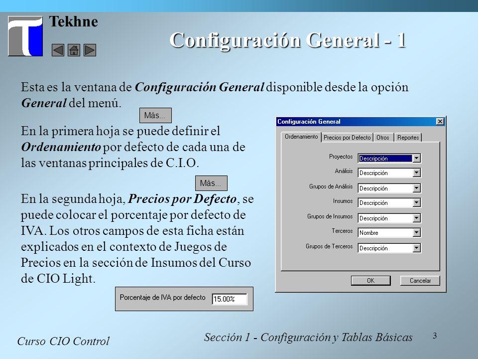 Configuración General - 1
