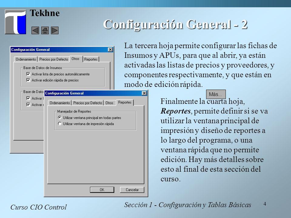 Configuración General - 2
