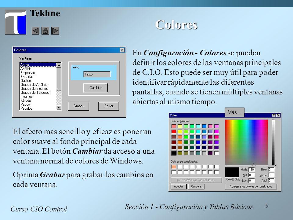 Tekhne Colores.