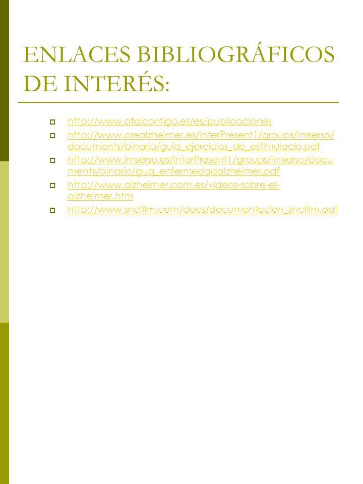 ENLACES BIBLIOGRÁFICOS DE INTERÉS: