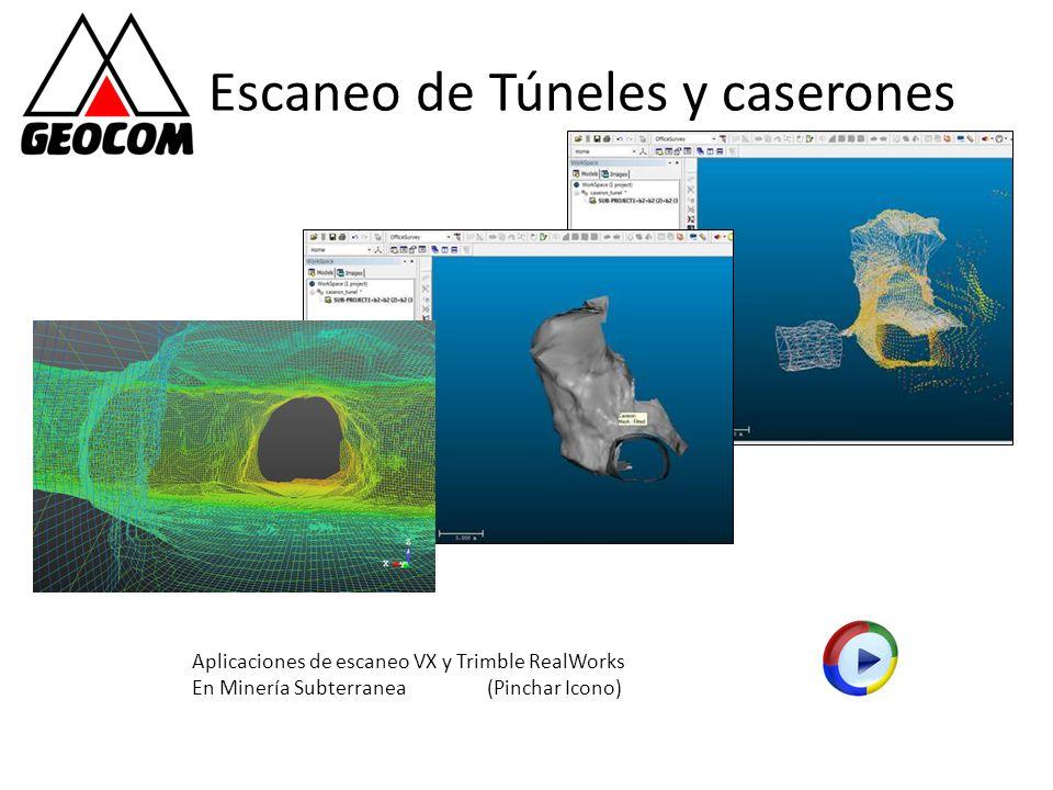 Escaneo de Túneles y caserones