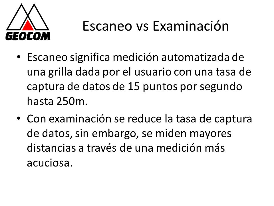Escaneo vs Examinación