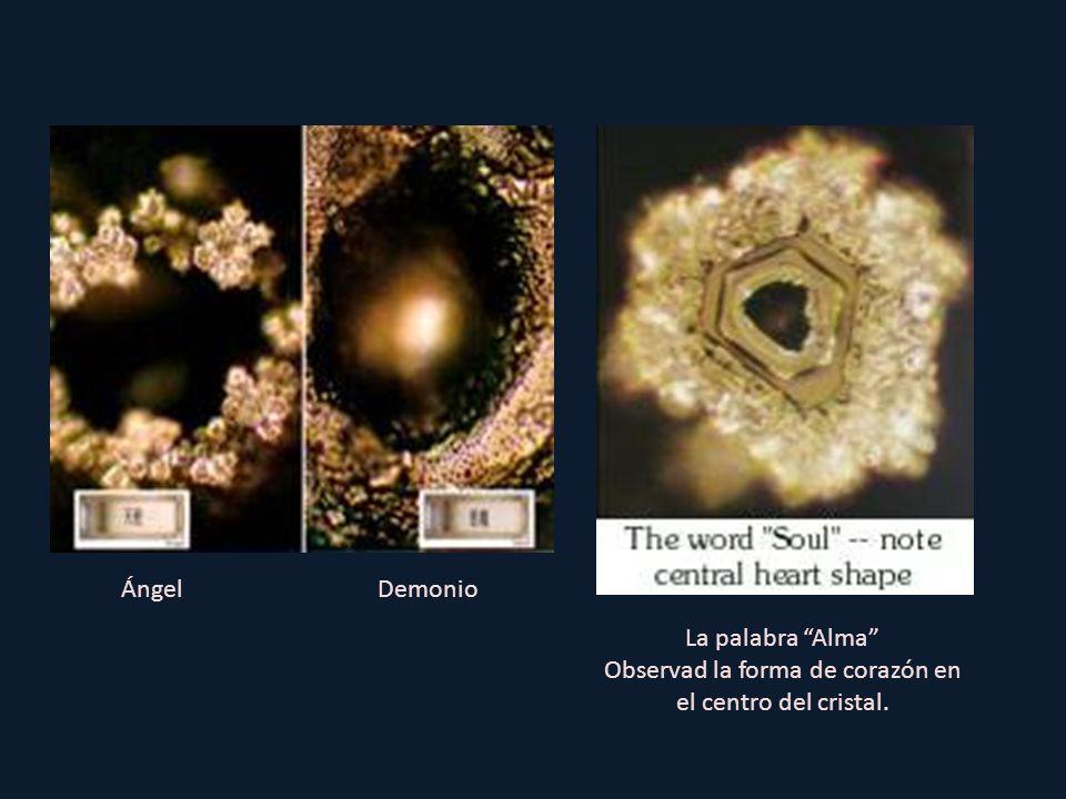 Observad la forma de corazón en el centro del cristal.