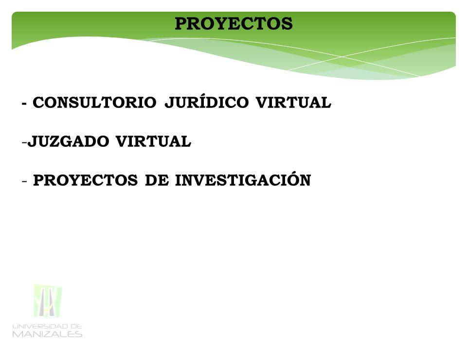 PROYECTOS - CONSULTORIO JURÍDICO VIRTUAL JUZGADO VIRTUAL