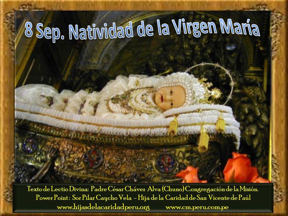 8 Sep. Natividad de la Virgen María