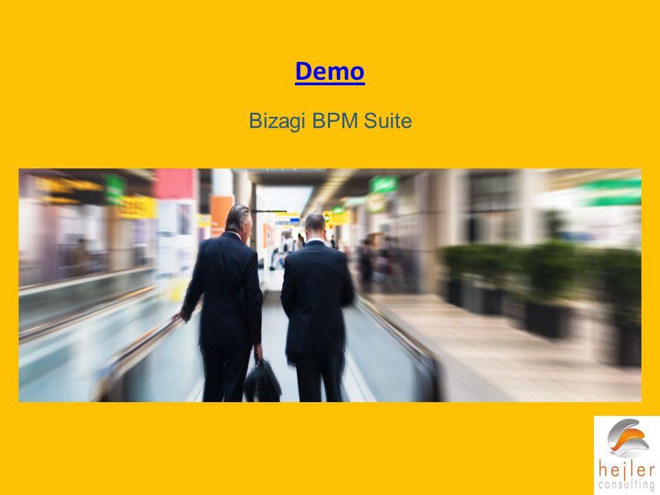 Demo Bizagi BPM Suite. Mostrar el wizard que acompaña paso a paso la automatización del proceso. No entrar al detalle, explicar los conceptros.