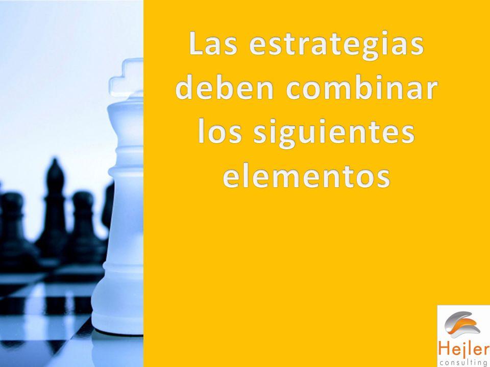 Las estrategias deben combinar los siguientes elementos