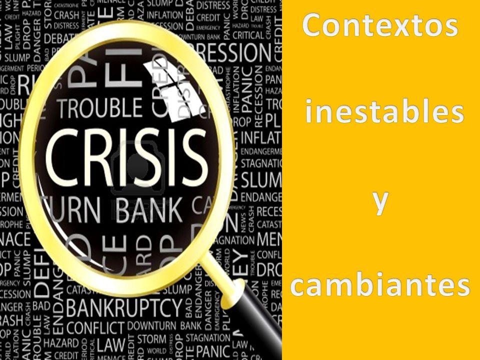 Contextos inestables y cambiantes
