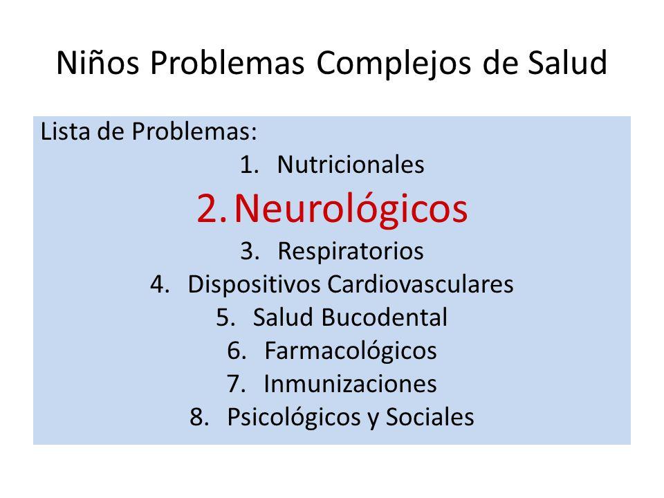 Niños Problemas Complejos de Salud