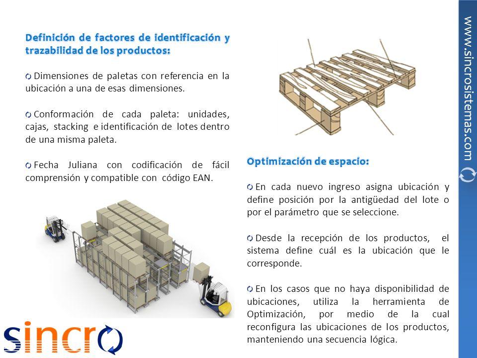 Definición de factores de identificación y trazabilidad de los productos: