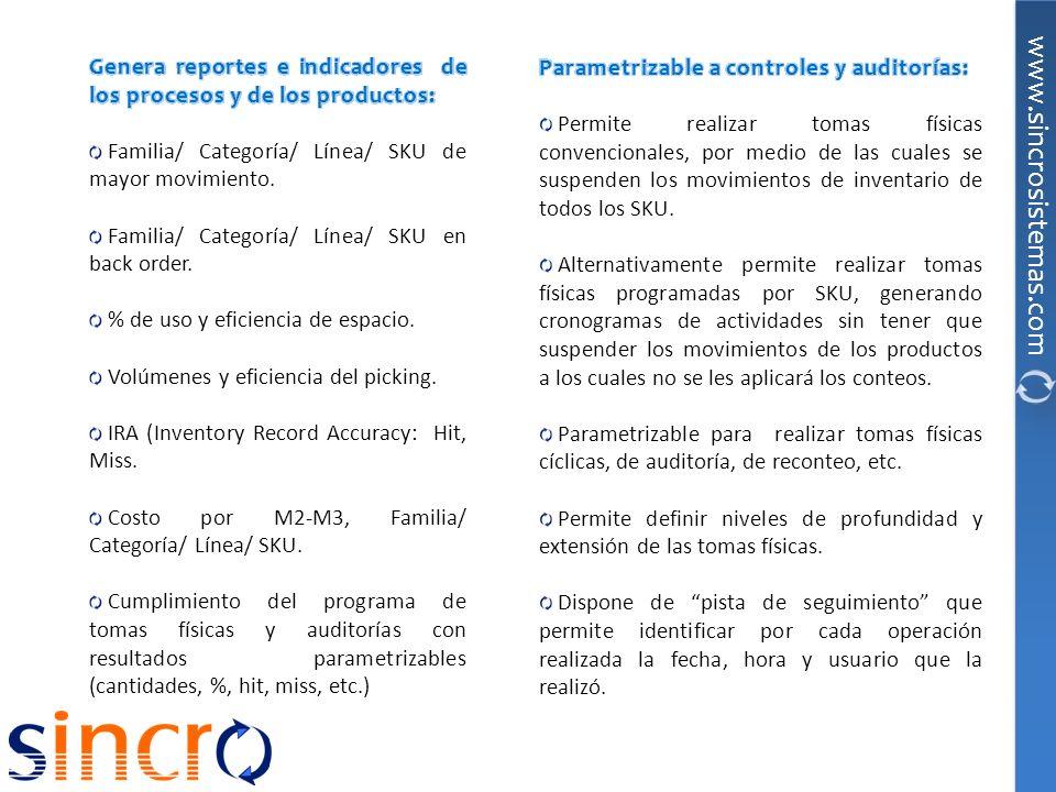 Genera reportes e indicadores de los procesos y de los productos: