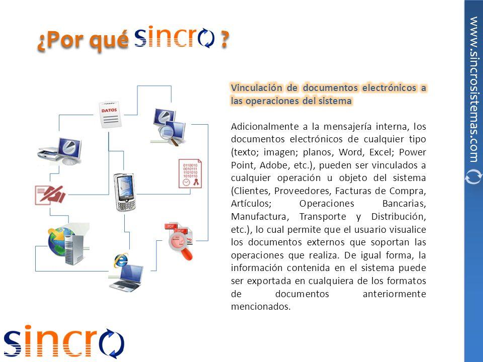 ¿Por qué Vinculación de documentos electrónicos a las operaciones del sistema.