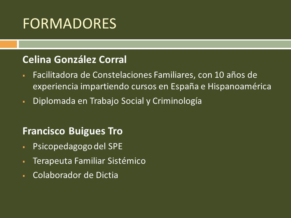 FORMADORES Celina González Corral Francisco Buigues Tro