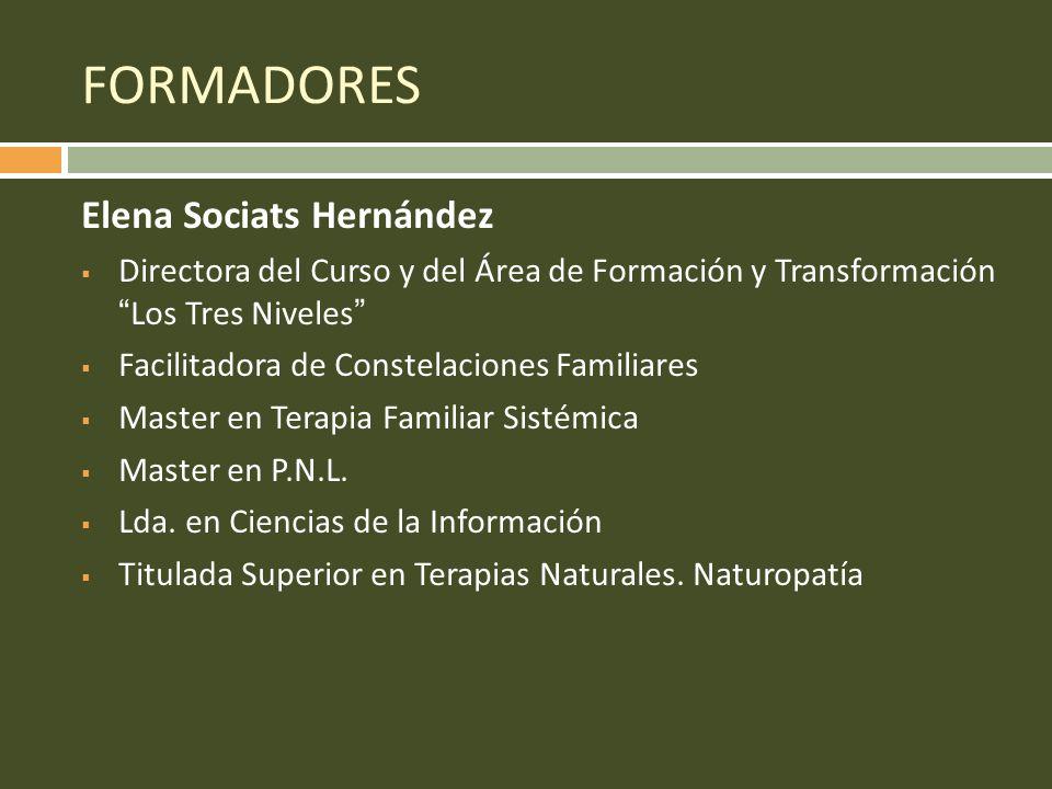 FORMADORES Elena Sociats Hernández