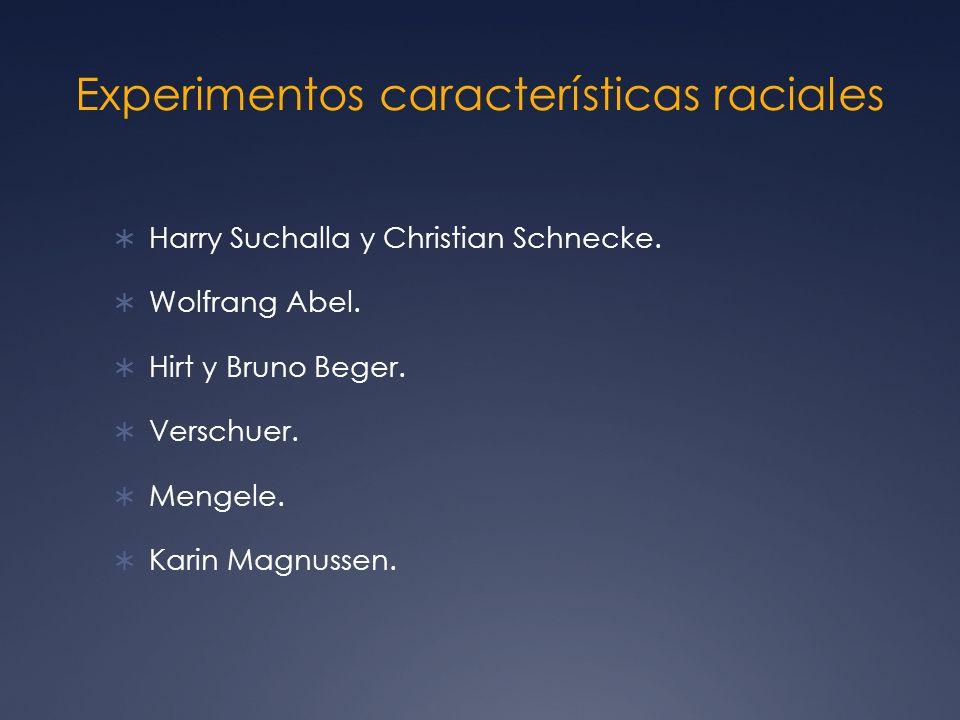 Experimentos características raciales