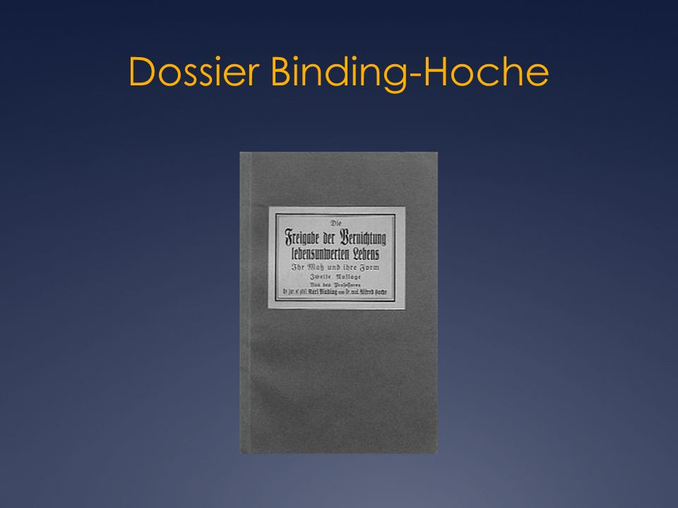 Dossier Binding-Hoche