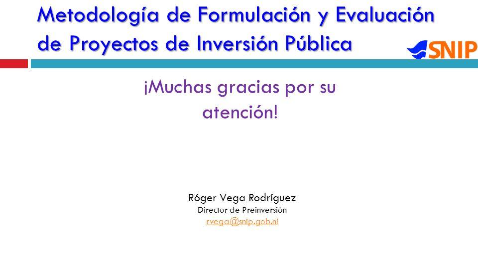 Metodología de Formulación y Evaluación de Proyectos de Inversión Pública