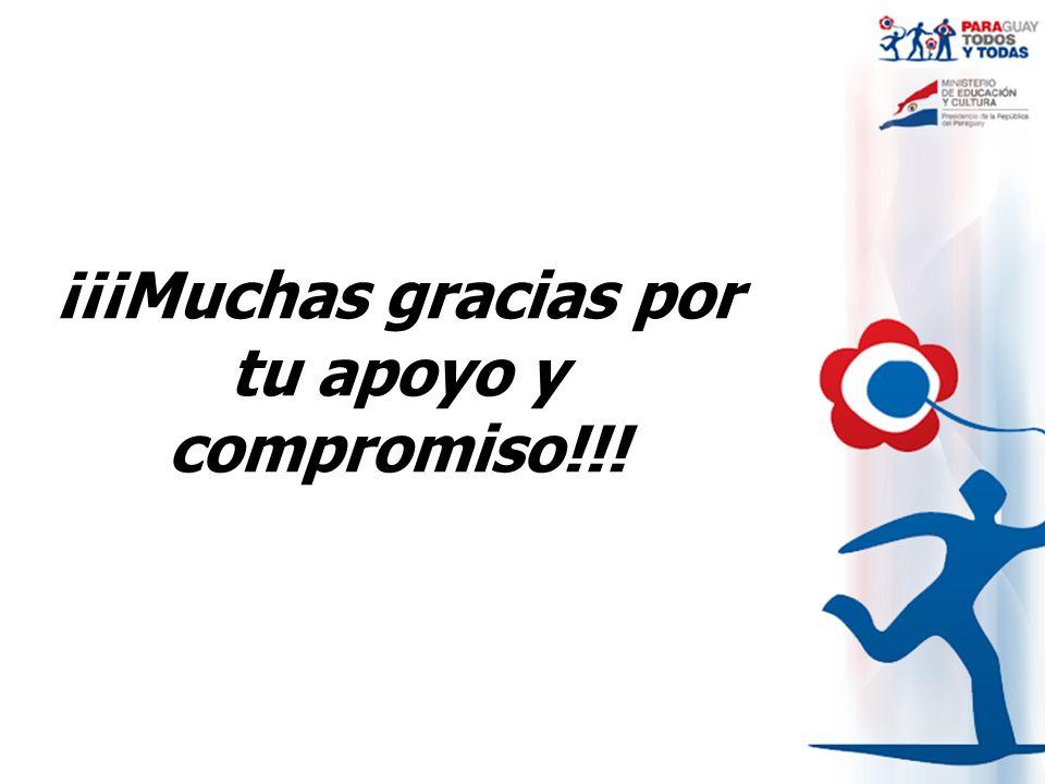 ¡¡¡Muchas gracias por tu apoyo y compromiso!!!