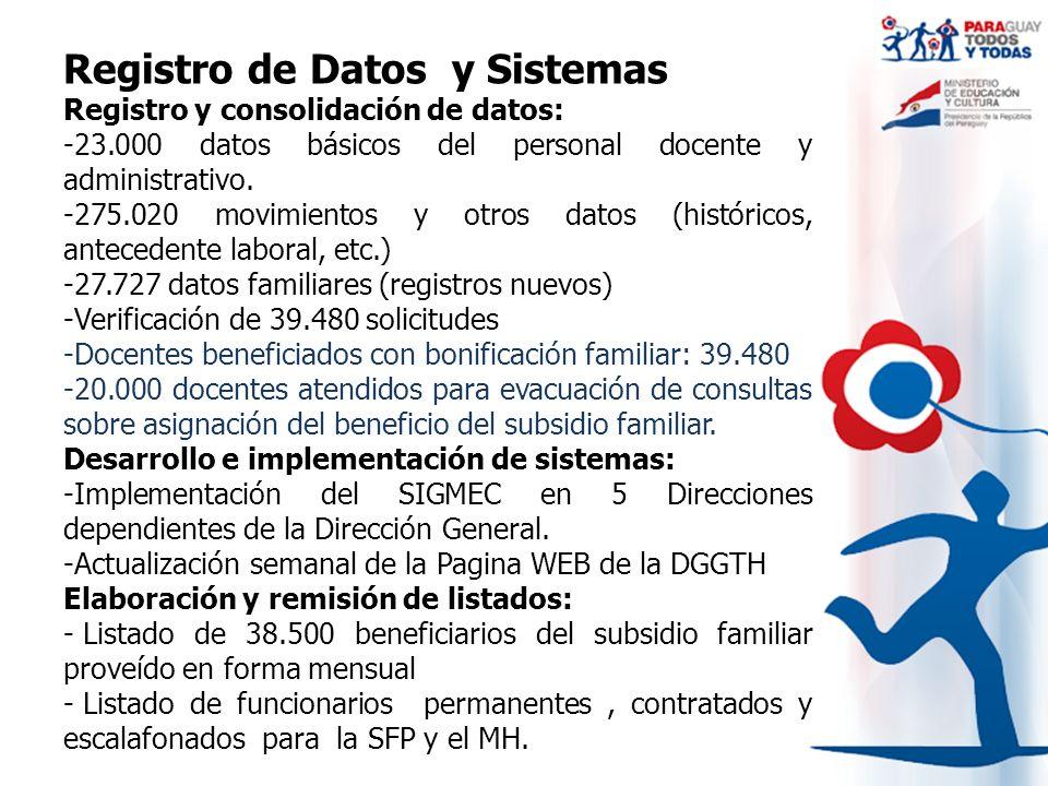 Registro de Datos y Sistemas