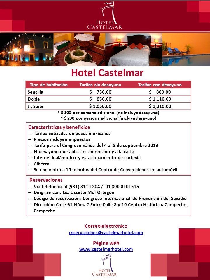 Hotel Castelmar Características y beneficios Reservaciones