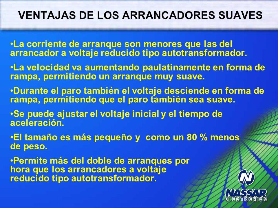 VENTAJAS DE LOS ARRANCADORES SUAVES