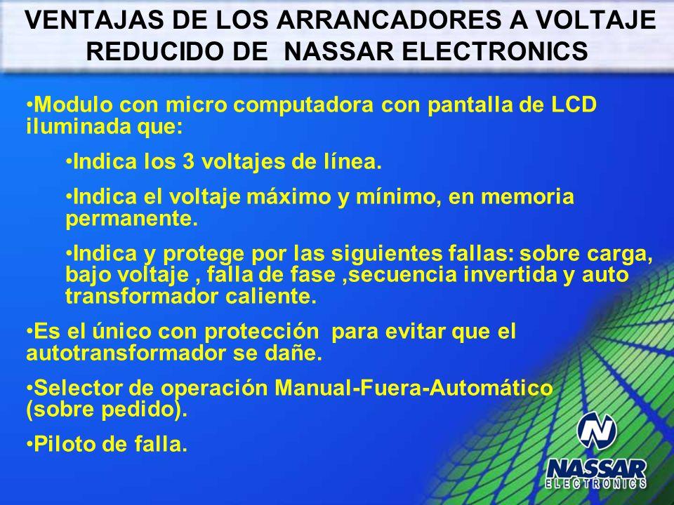 VENTAJAS DE LOS ARRANCADORES A VOLTAJE REDUCIDO DE NASSAR ELECTRONICS