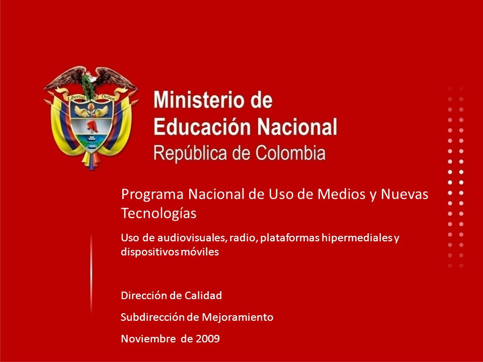 Programa Nacional de Uso de Medios y Nuevas Tecnologías