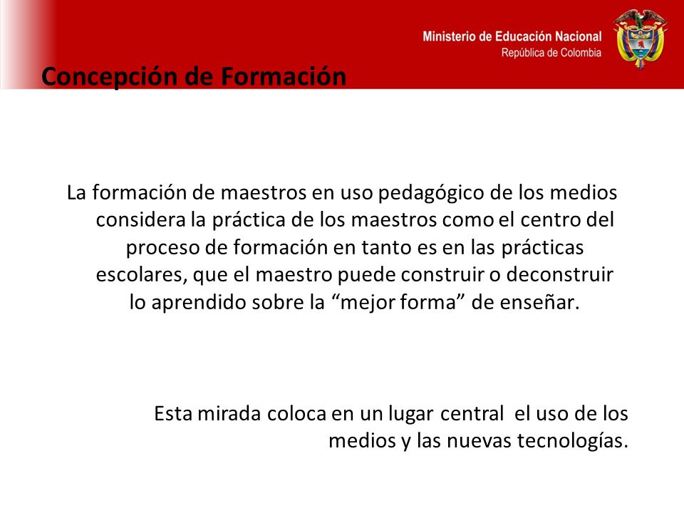 Concepción de Formación