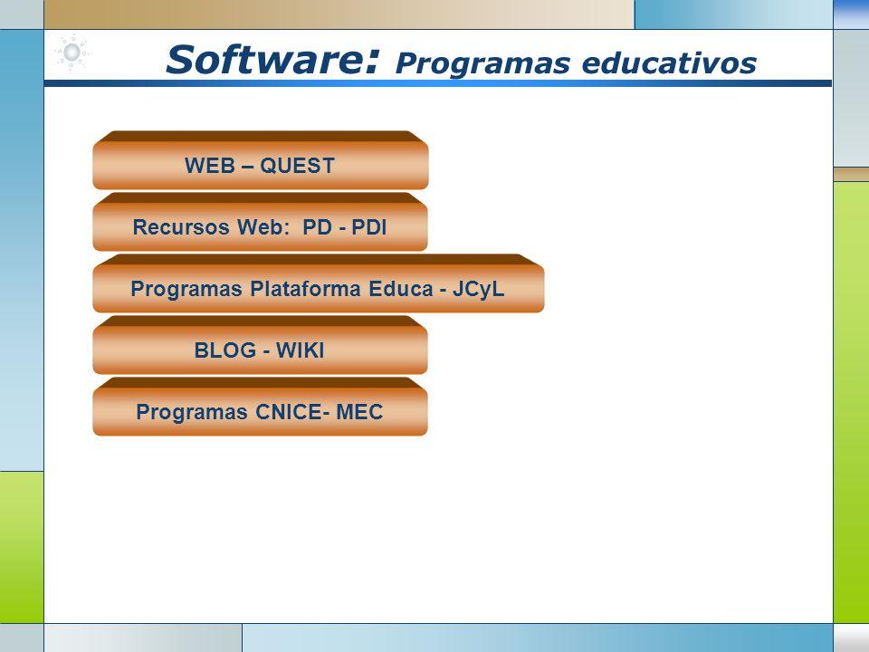Software: Programas educativos
