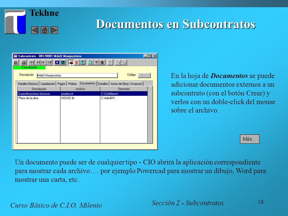 Documentos en Subcontratos