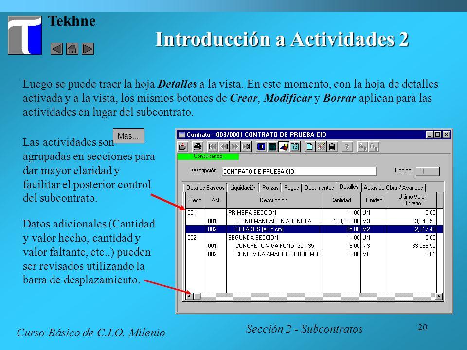 Introducción a Actividades 2