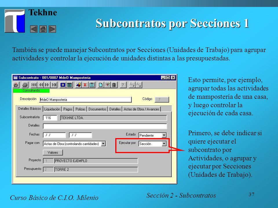 Subcontratos por Secciones 1