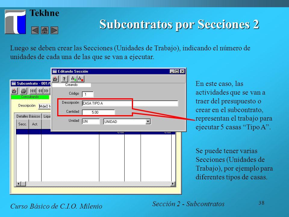 Subcontratos por Secciones 2