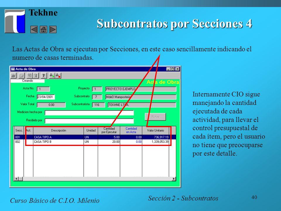 Subcontratos por Secciones 4