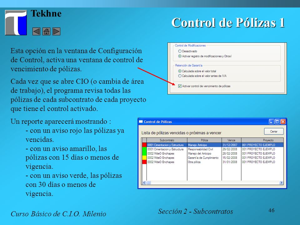 Control de Pólizas 1 Tekhne