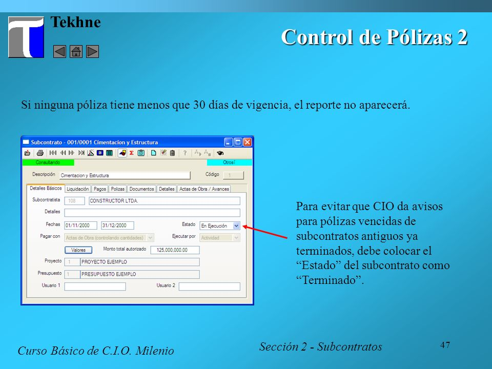 Control de Pólizas 2 Tekhne