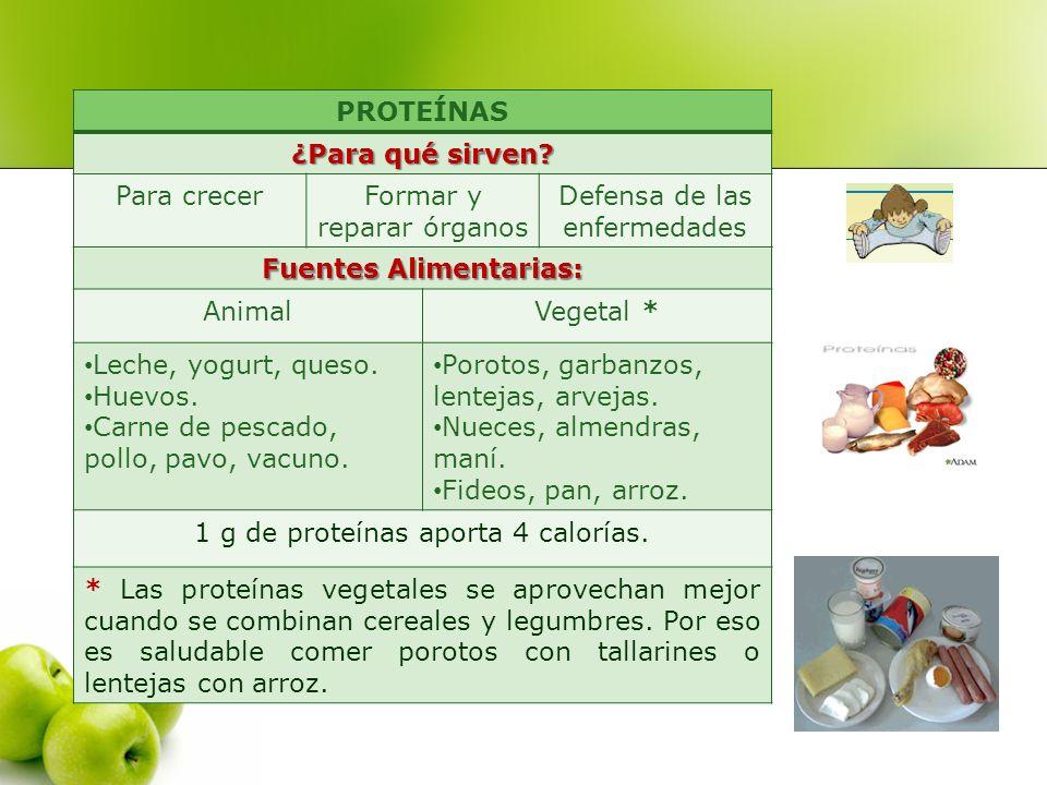 Fuentes Alimentarias: