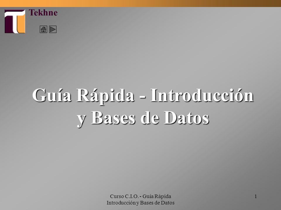Guía Rápida - Introducción y Bases de Datos