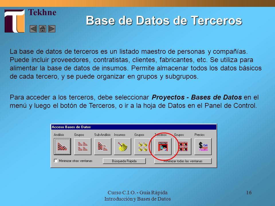Base de Datos de Terceros