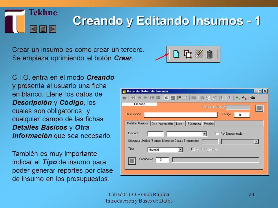 Creando y Editando Insumos - 1