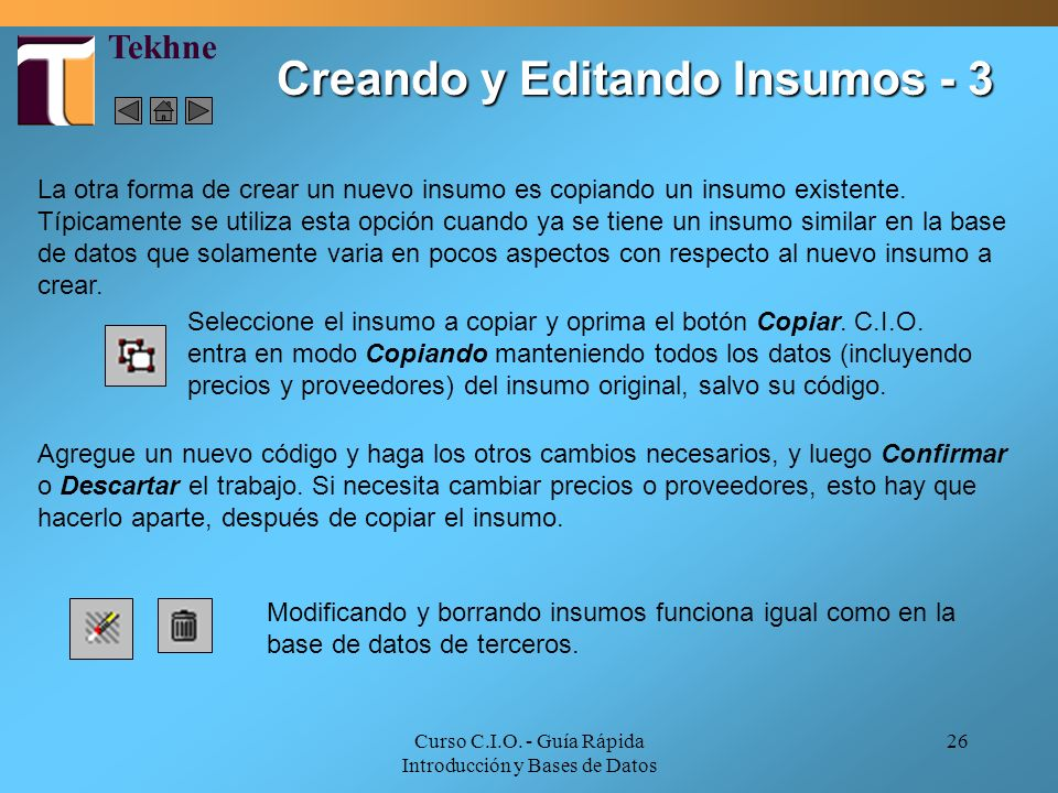 Creando y Editando Insumos - 3