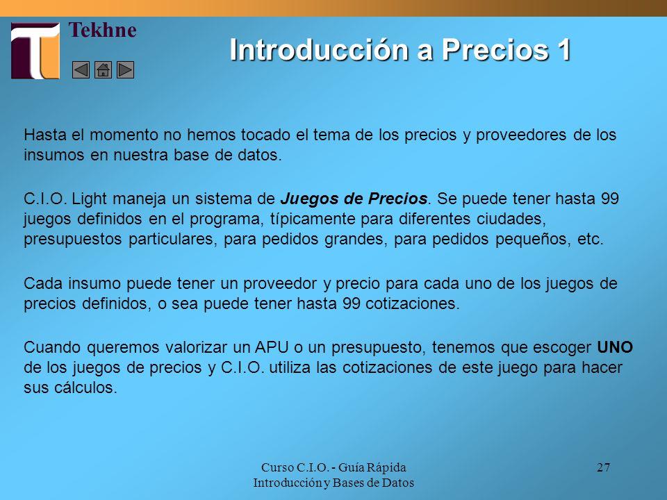 Introducción a Precios 1