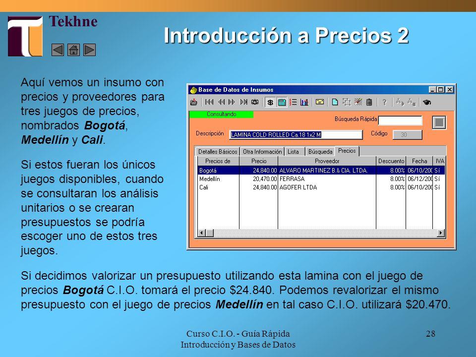 Introducción a Precios 2