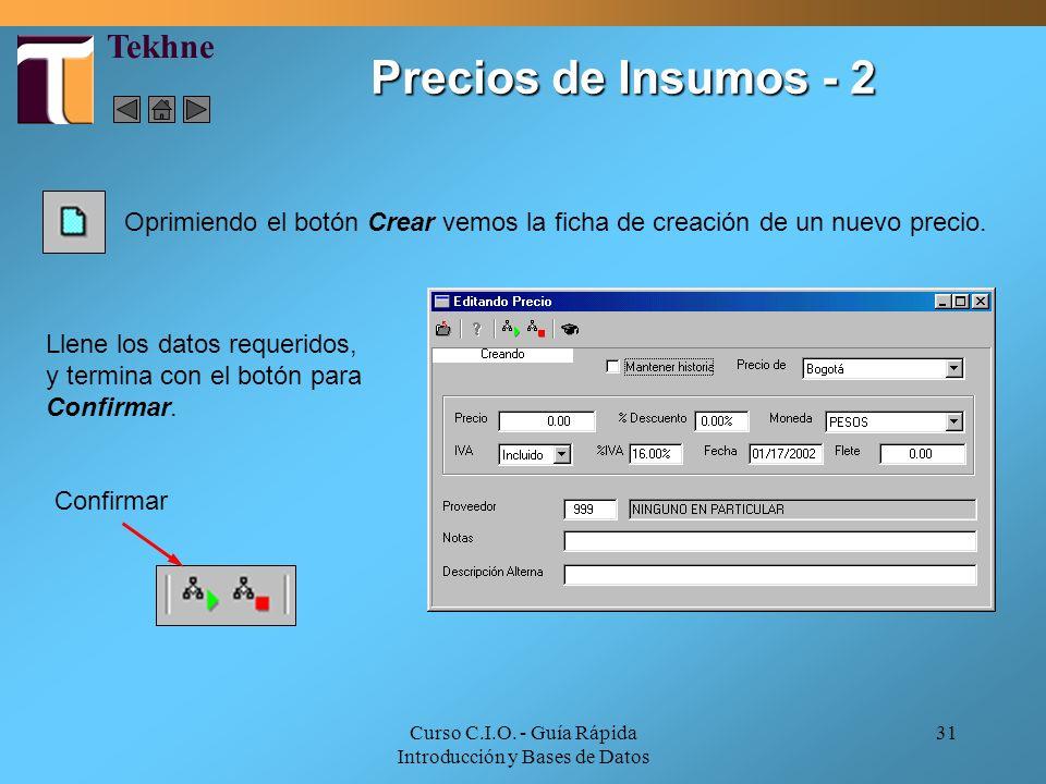 Curso C.I.O. - Guía Rápida Introducción y Bases de Datos