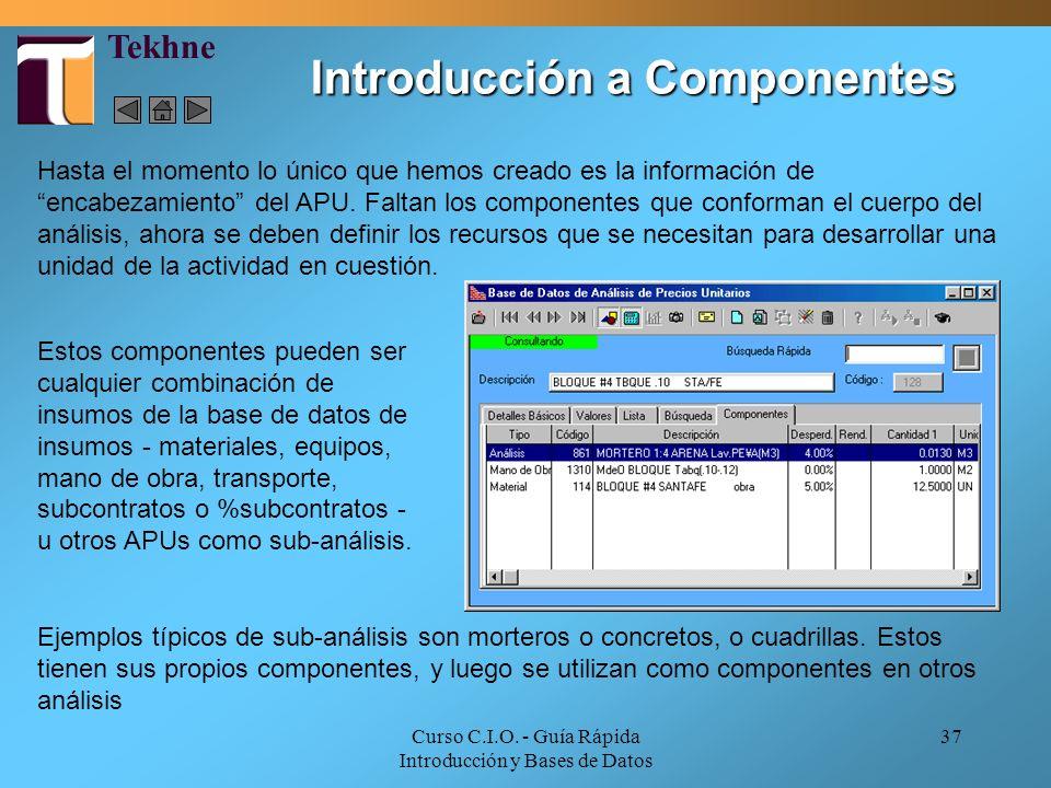 Introducción a Componentes