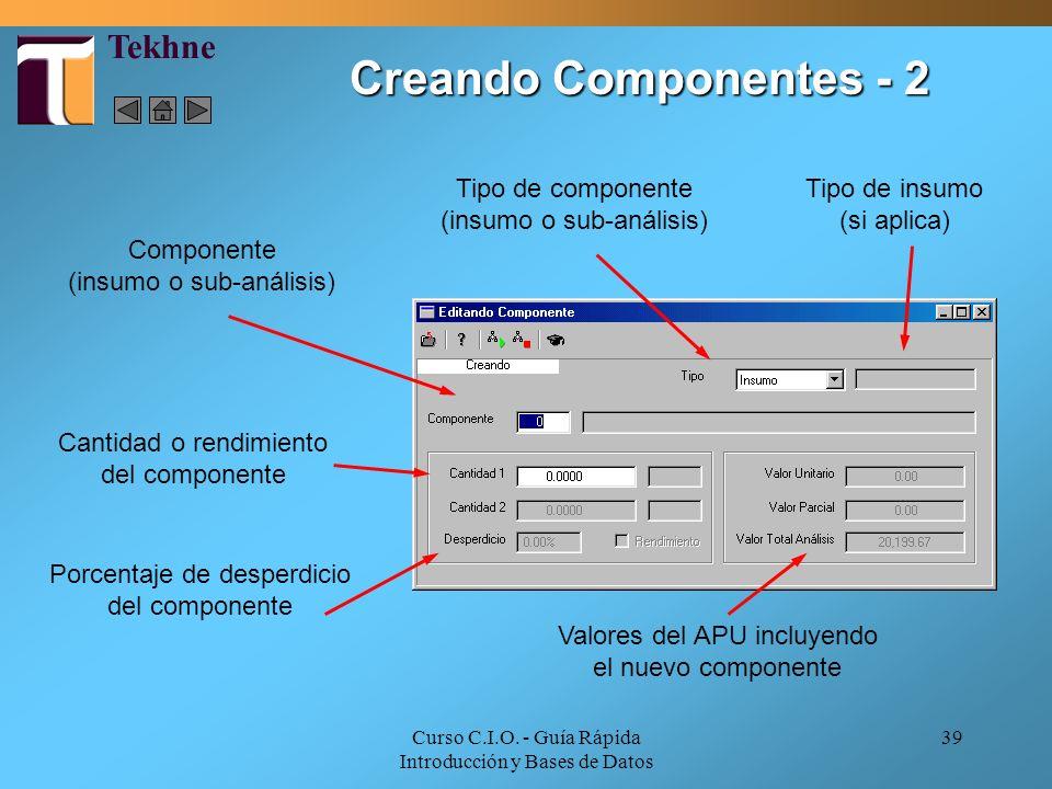 Creando Componentes - 2 Tekhne
