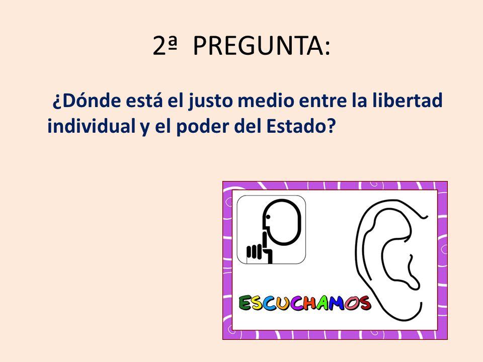 2ª PREGUNTA: ¿Dónde está el justo medio entre la libertad individual y el poder del Estado