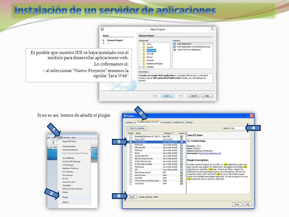 Instalación de un servidor de aplicaciones