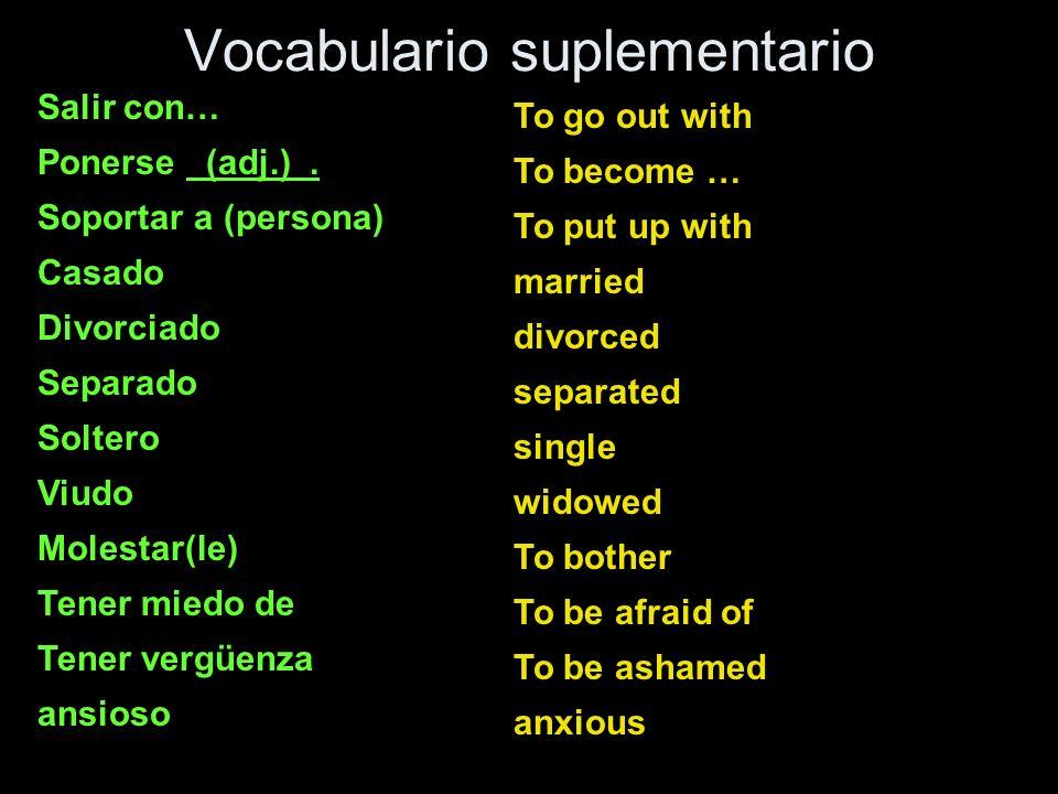 Vocabulario suplementario