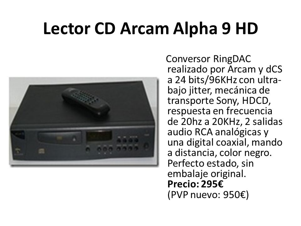 Lector CD Arcam Alpha 9 HD
